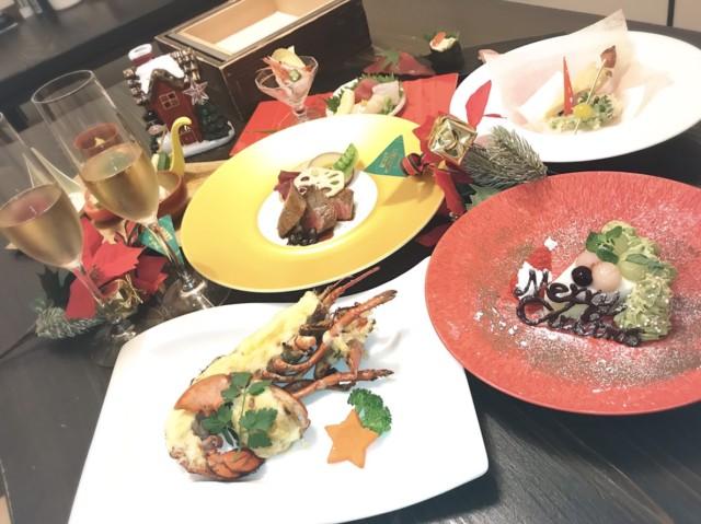 煌びやかに、大人のクリスマス会席 登場  15000円(税込)